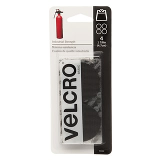 """Velcro 90362 1-7/8"""" Black Industrial Strength Coins 4-count"""