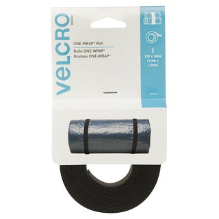 "Velcro 90340 3/4"" X 12' Black ONE-WRAP Roll"