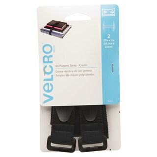 "Velcro 90441 1"" X 27"" Black Elastic All Purpose Strap 2-count"