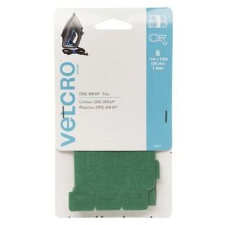"Velcro 90472 1/2"" X 11"" Green ONE-WRAP Ties 6-count"