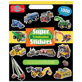 Construction Super Sticker Book