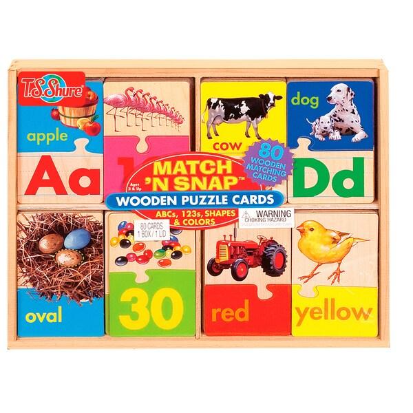 Match 'N Snap 3 Puzzle Set, ABCs, 123s, Shapes/Colors