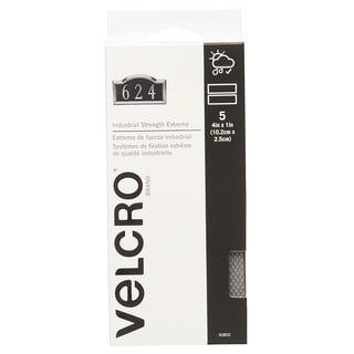 "Velcro 90800 1"" X 4"" Titanium IS-Extreme Strips 5-count"