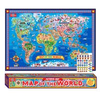 Pictorial Map Of The World Laminated Poster w/Stickers
