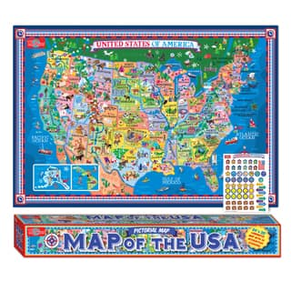 Geography toys for less overstock pictorial map of the usa laminated poster wstickers gumiabroncs Images