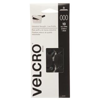"""Velcro 91000 1"""" X 3/4"""" Black Spots 10-count"""
