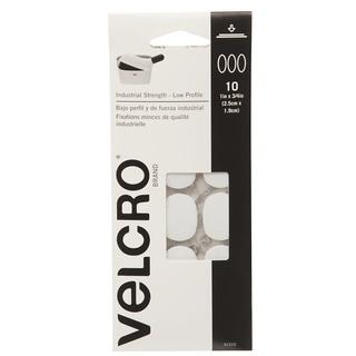 "Velcro 91010 1"" X 3/4"" White Spots 10-count"