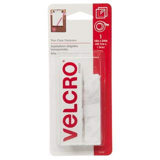 """Velcro 91326 3/4"""" X 18"""" Clear Thin Fasteners Tape"""