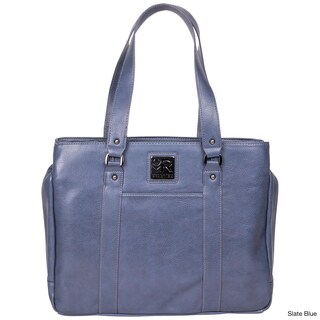 Kenneth Cole Reaction Triple Compartment Pebbled Faux-leather Top-zip 15-inch Computer Business Tote Bag (More options available)