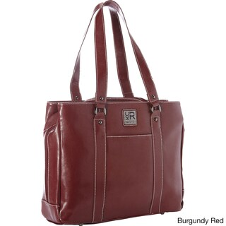 Kenneth Cole Reaction Triple Compartment Pebbled Faux-leather Top-Zip 15-inch Computer Business Tote Bag (Option: Burgundy)