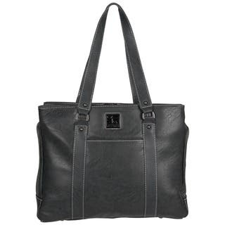 Kenneth Cole Reaction Solid-colored Faux-leather Pebbled Top-zip 15-inch Laptop Tote Bag|https://ak1.ostkcdn.com/images/products/12819187/P19587149.jpg?impolicy=medium
