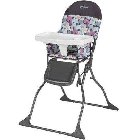 Cosco Multicolor Plastic Elephant Puzzle Simple-fold High Chair
