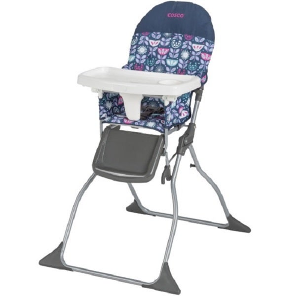 Cosco Blue/Pink Poppy Field Simple-fold High Chair 21160791