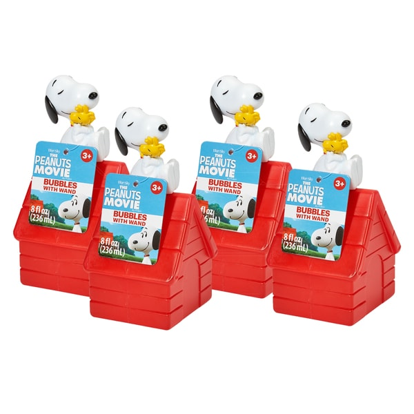 Peanuts Snoopy 4 Piece Bubbles with Wand