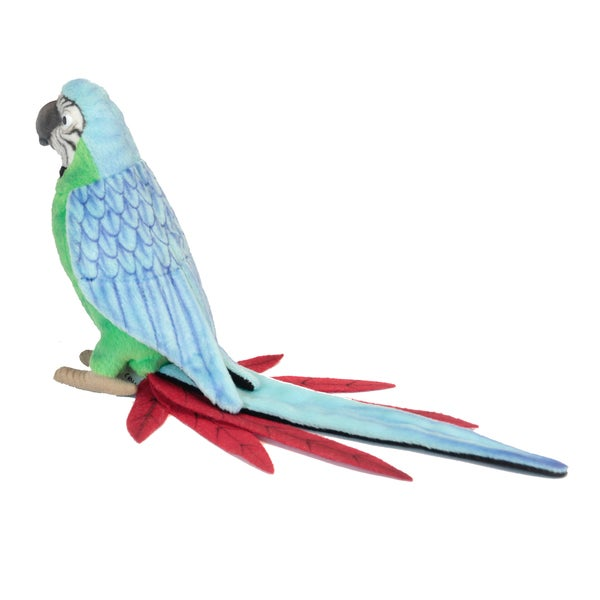 Hansa 7 Inch Green and Blue Parrot