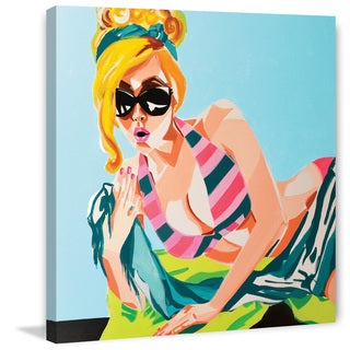 Marmont Hill - 'Beach Babe' by Molly Rosner Painting Print on Wrapped Canvas