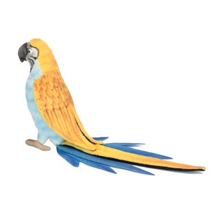 Hansa 7 Inch Blue and Yellow Parrot