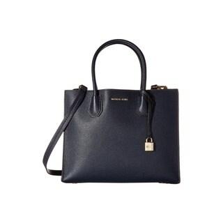 Michael Kors Studio Mercer Admiral Blue Leather Large Convertible Tote Bag