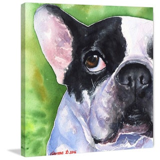 Marmont Hill - 'French Bulldog' by George Dyachenko Painting Print on Wrapped Canvas