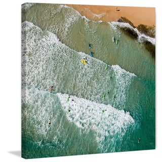 Marmont Hill - 'Headed for the Surf' by Karolis Janulis Painting Print on Wrapped Canvas