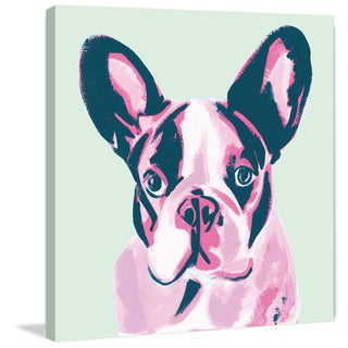 Marmont Hill - 'French Bulldog' by Molly Rosner Painting Print on Wrapped Canvas