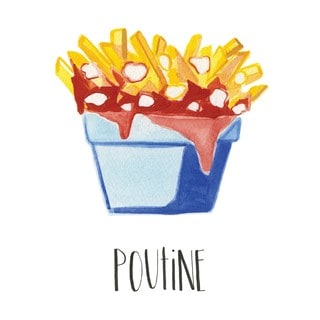 Marmont Hill - 'Poutine' by Molly Rosner Painting Print on Wrapped Canvas