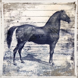 Marmont Hill - 'Black Horse II' by Irena Orlov Painting Print on Wrapped Canvas