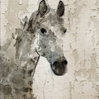 Marmont Hill - 'Glaeta Horse' by Irena Orlov Painting Print on Wrapped Canvas - Multi-color