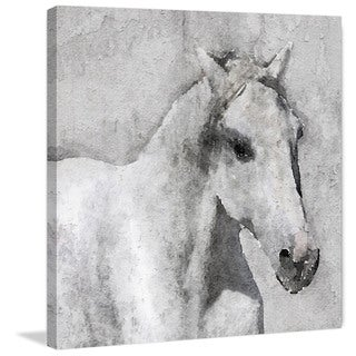 Marmont Hill - 'Grey Elegant Horse' by Irena Orlov Painting Print on Wrapped Canvas