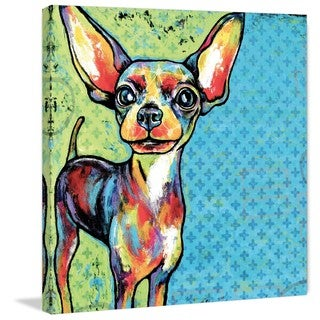 Marmont Hill - 'Chihuahua Pop Art' Painting Print on Wrapped Canvas