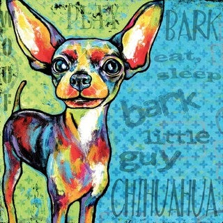 Marmont Hill - 'Chihuahua II' Painting Print on Wrapped Canvas