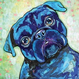 Marmont Hill - 'Black Pug II' Painting Print on Wrapped Canvas
