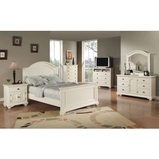 Contemporary White Bedroom Set Queen Painting