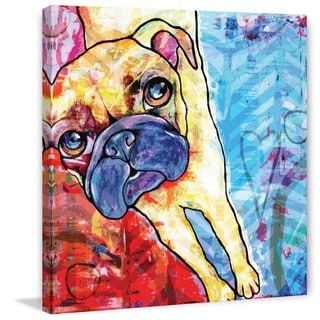 Marmont Hill - 'Pug Pop Art' Painting Print on Wrapped Canvas