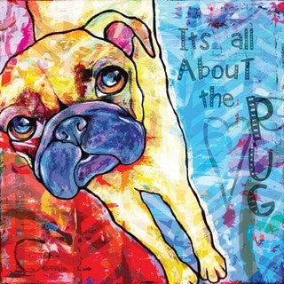 Marmont Hill - 'Pug II Pop Art' Painting Print on Wrapped Canvas