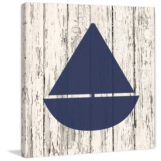 Marmont Hill - 'Blue Boat' by Diana Alcala Painting Print on Wrapped Canvas