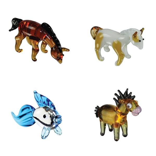 Looking Glass 4-Pack Arabian, Pinto, Goldfish, Horsey