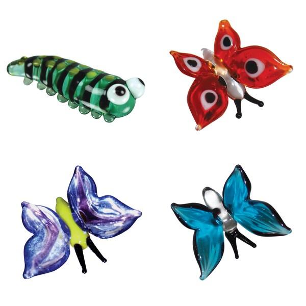Looking Glass 4-Pack Caterpillar and 3 Butterflies
