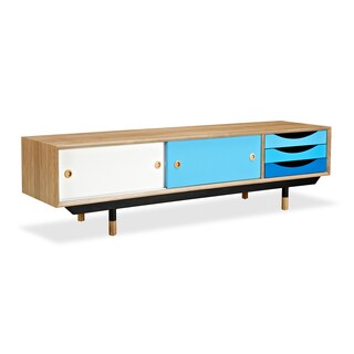 Kardiel Color Theory Midcentury-modern Media Cabinet (Option: Ash Finish)
