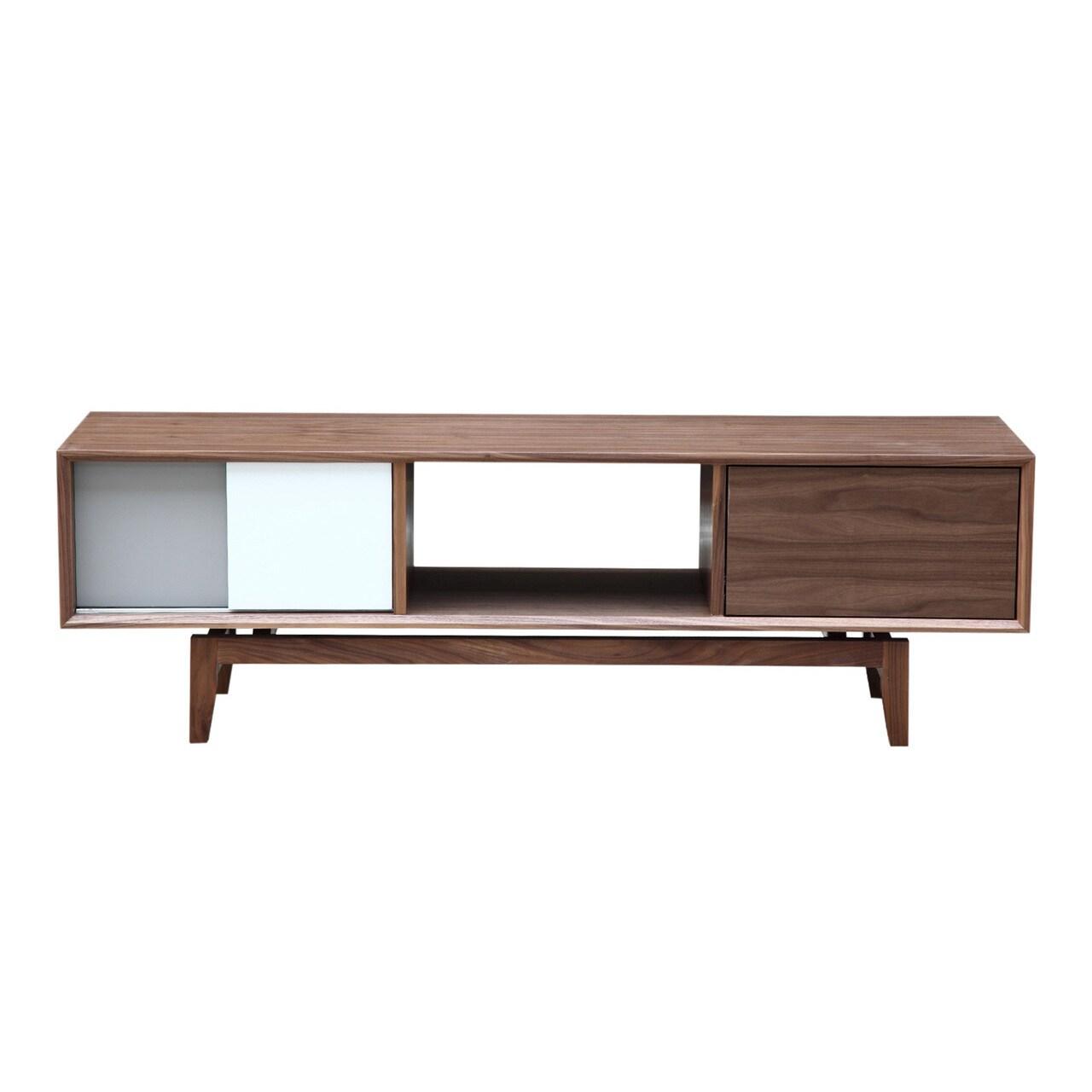 Kardiel Platform Modern Credenza/Media TV Cabinet (Walnut...