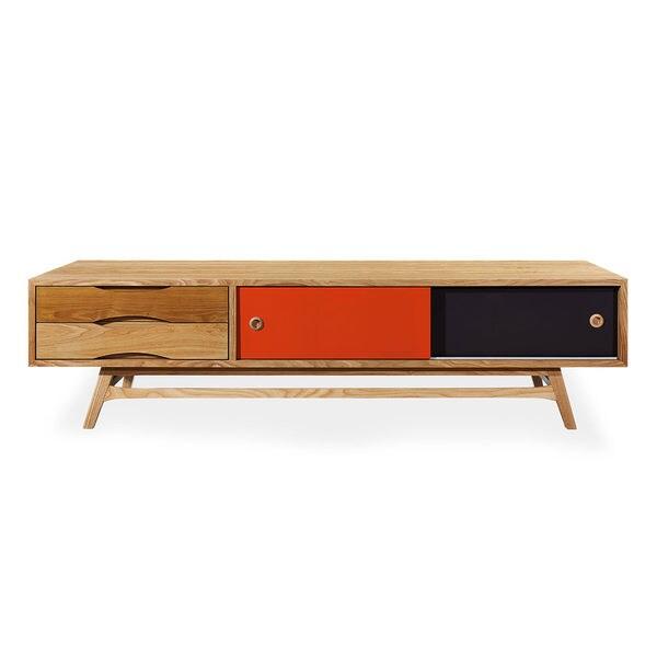 Kardiel Color Pop Mid Century Modern Media Cabinet