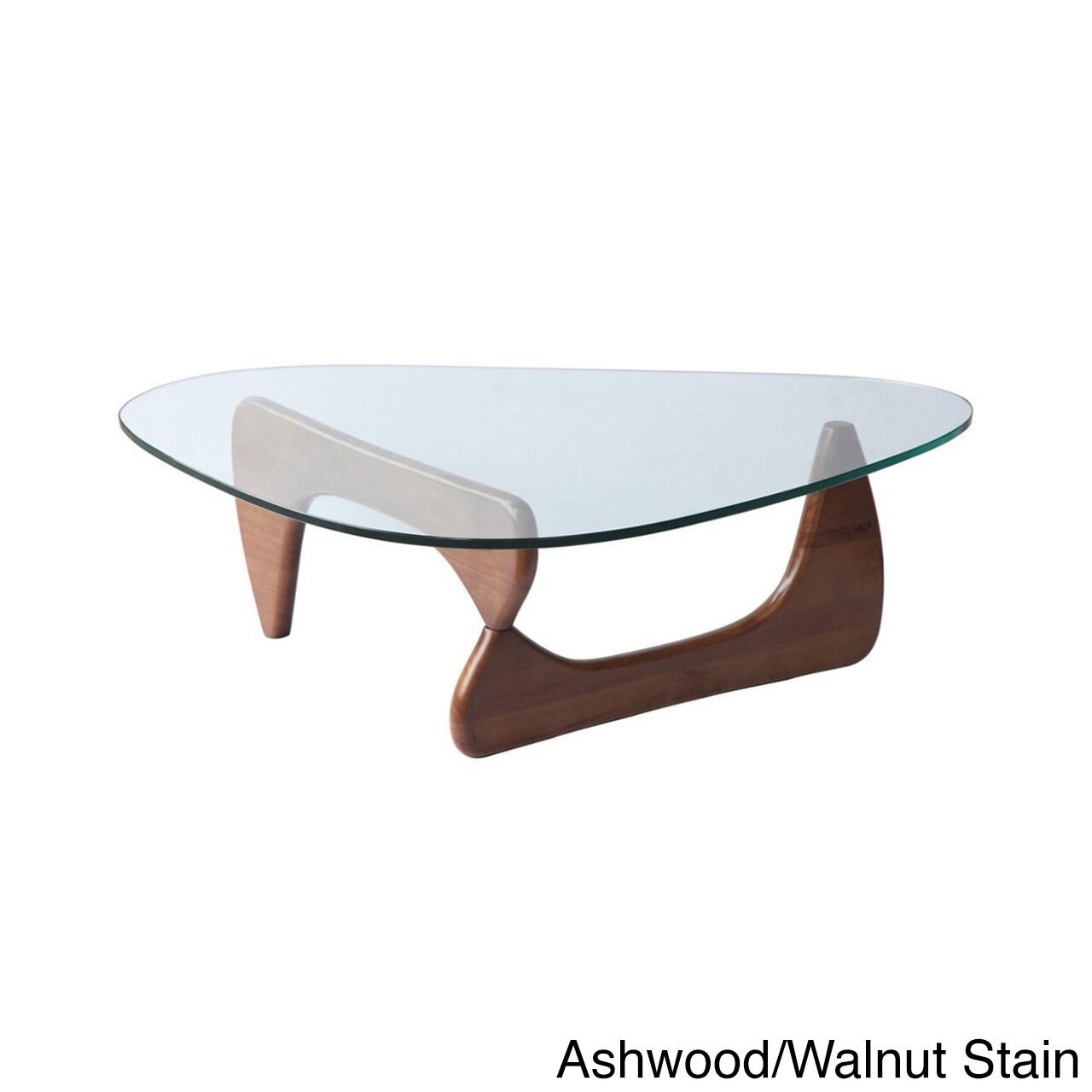 Kardiel 1956 Arch Mid Century Modern Wood Glass Coffee Table