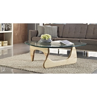 Kardiel 1956 Arch Mid-century Modern Wood Glass Coffee Table