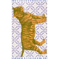 nuLOOM Handmade by Thomas Paul Cotton Printed Tiger Rug (5' x 8')