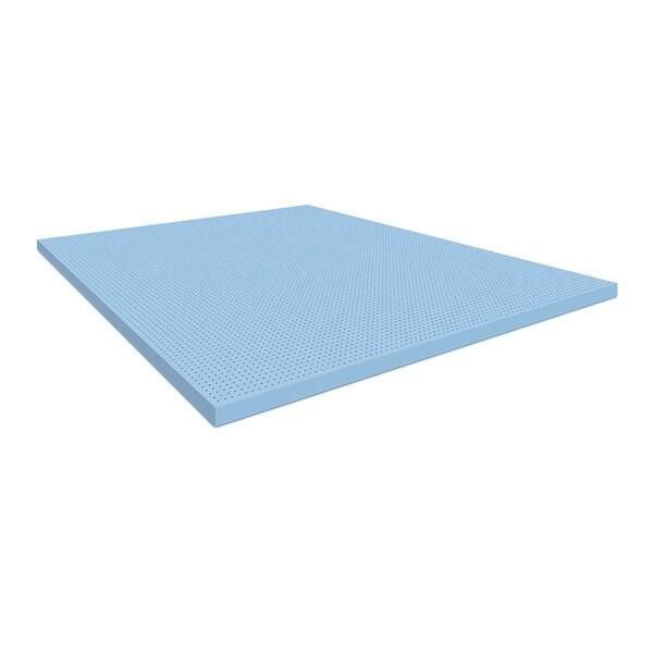 Blu Sleep 2-inch Ice Gel Foam Mattress Topper