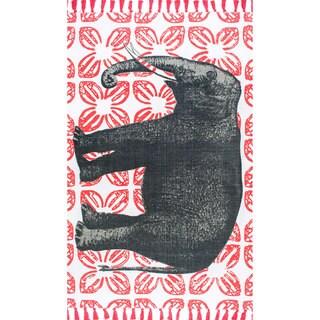 Hand Tufted World Elephant Skin Wool Rug 5 X 8