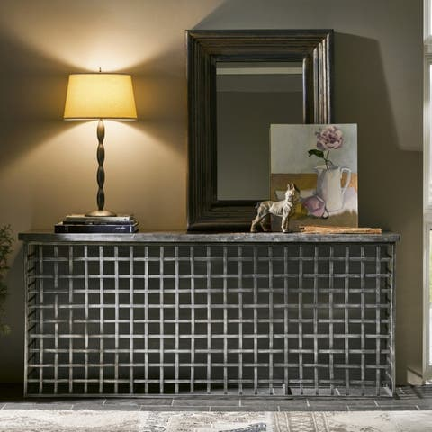 Turner Grey Wood Console Table