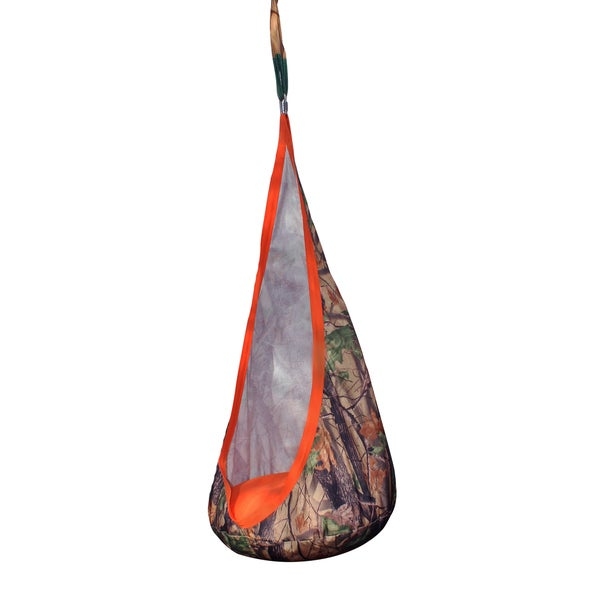 b4Adventure Multicolor Camouflage Polyester Woodland Outdoor Hanging Sky Chair