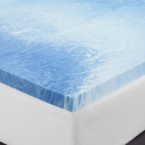 serta 3inch gel memory foam mattress topper free shipping today - Serta Mattress Topper