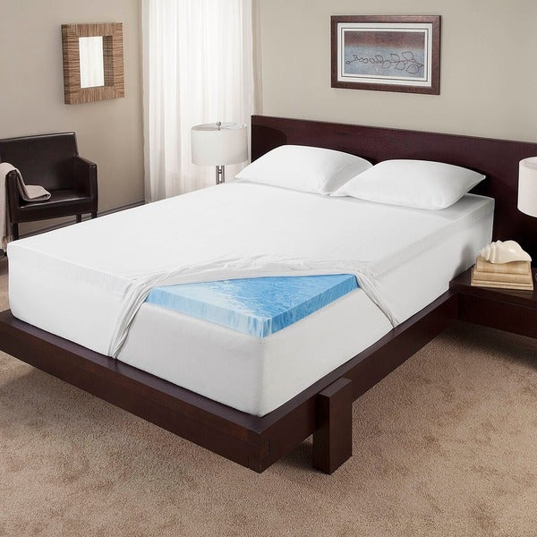 mattress memory foam topper. serta 3-inch gel memory foam mattress topper